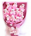 Pink mini bear bouquet